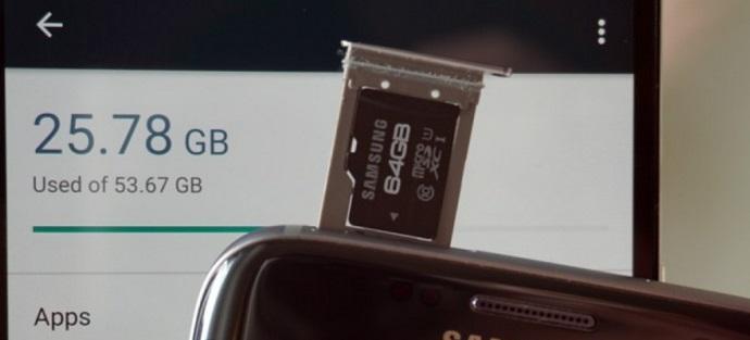 MicroSD 메모리를 이용한 저장공간 확장
