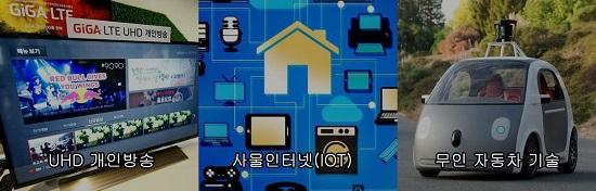 UHD 개인방송, 사물인터넷, 무인자동차 기술 사진 모음