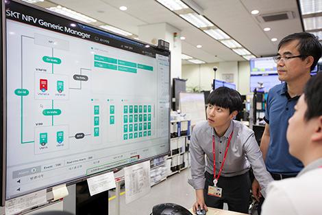 SK텔레콤 국제 표준기구 규격 기반 가상화 통합 관리 플랫폼을 상용망에 적용하고, 이를 기반으로 세계 최고 수준의 네트워크 가상화 환경을 구축해 나겠다고 12일 밝혔다.