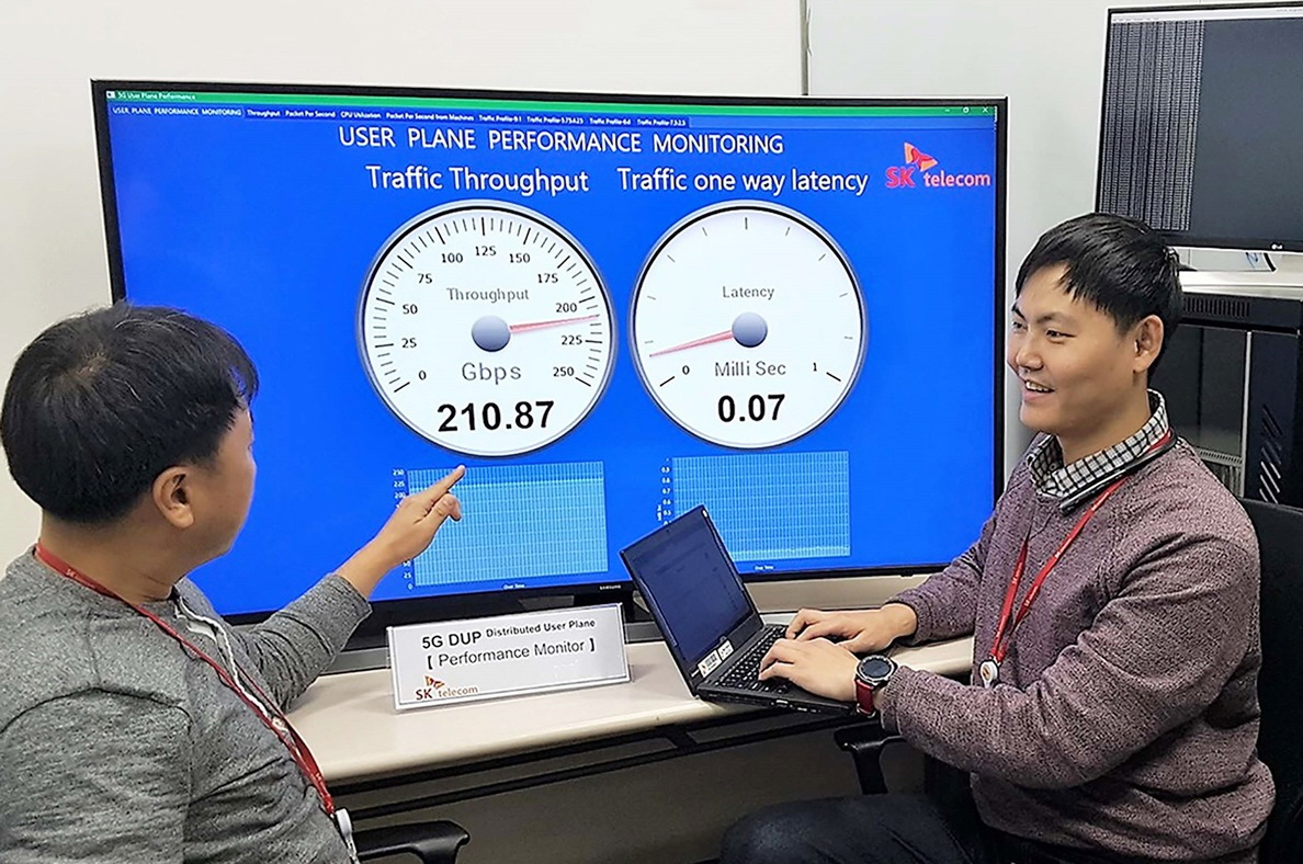 SK텔레콤이 LTE 대비 10배의 트래픽을 처리할 수 있는 5G 네트워크 장비의 핵심 기술 개발에 성공했다.