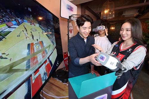 KT가 개인형 실감미디어 극장서비스 '기가라이브TV'를 12일에 출시하고, 5G 시대 킬러서비스 중 하나인 실감미디어 사업을 오프라인에 이어 온라인까지 확대한다고 밝혔다.