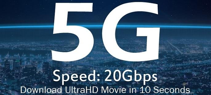5G 네트워크는 4G 네트워크(75Mbps)보다 최대 20배 이상 빠른 20Gbps 네트워크 속도를 제공