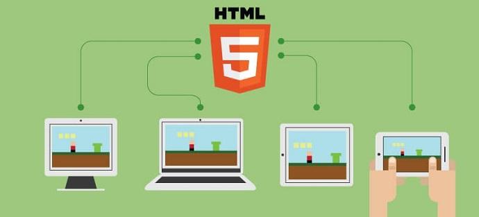 HTML5 게임은 웹 언어로 제작되었기 때문에 스마트폰 뿐만 아니라 태블릿, PC 등의 기기에서도 즐길 수 있다는 그림