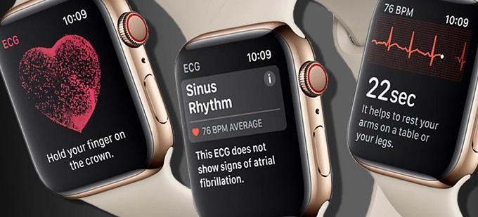 스마트워치로 사용자의 신체 활동을 자동으로 감지해  결과를 보여주는 스마트워치 화면
