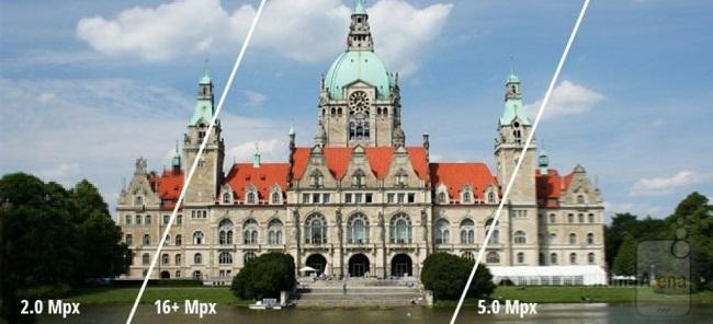 카메라의 화소가 많을 수록 해상도가 높기 때문에 크고선명한 사진을 촬영할 수 있음