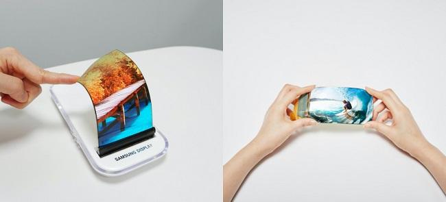 미래의 폴더블 스마트폰은 휴지처럼 말아서 보관할 수 잇는 롤러블 스마트폰, 화면비율을 자유롭게 조절가능한 스트레처블 스마트폰이 출시예정