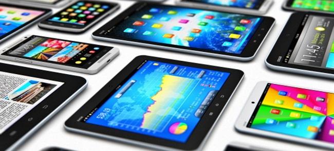 다양한 태블릿 이미지