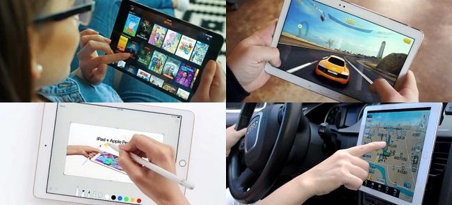 태블릿 활용하는 이미지 - 동영상 시청, 게임, 네비게이션, 스케치
