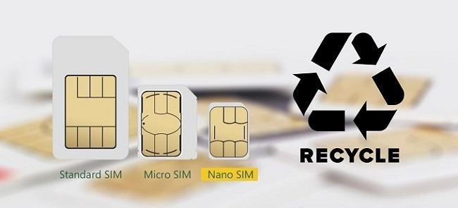 Standard SIM, Micro SIM, Nano SIM 이미지